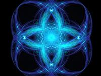 Blue geometric ornament