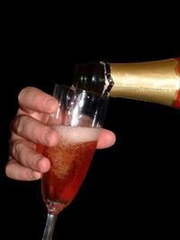 Glass of champaign
