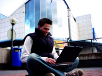 Guy with laptop