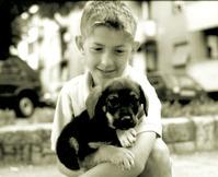 boy with a pupy