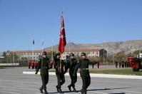 Turkish Sancak and soldiers