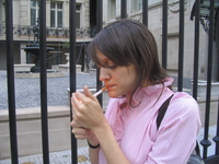 girl lighting a cigarette 4