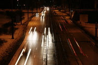 Car light tracks - Poland Warsaw