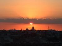 Puesta de sol en Madrid