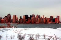 Manhattan Skyline snowy 1