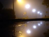 nightshot with fog
