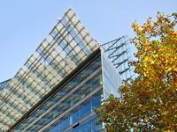 glass architecture in autumn
