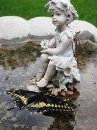 Statue and Butterfly 3