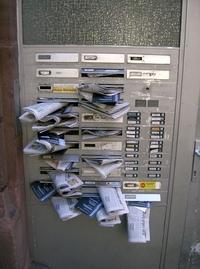 Crammed mailbox