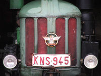 Tractor raster closeup