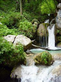 Stunning waterfall near the Ta