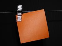 Orange blank paper