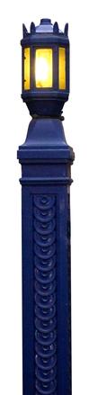 Blue street lamp