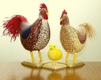Plactic Chicken Family