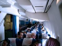 Passengers inside a 747