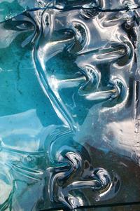 Blue broken glass 5