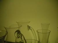 light through glass pitcher
