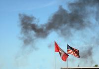 Flags and Black Smoke