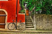 Bike next to a wall