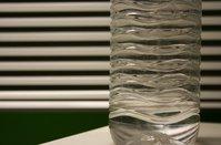 a plastic bottle