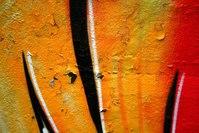 Orange graffiti 2