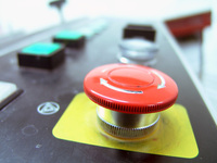 Ryobi STOP button