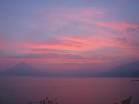lake atitlan - pink sky