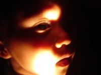 child in the dark