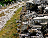 Road & stone wall
