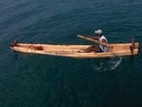 Sailor in Indian Ocean