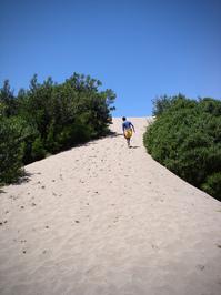 Climbing on the sand