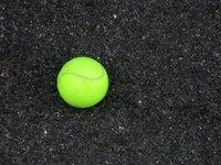 Tennis Ball on Asphalt