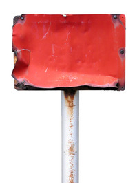 Sign 8: rusty red