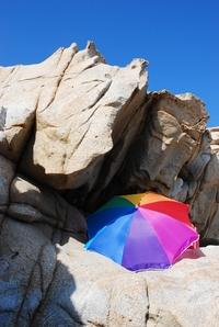 Colored beach umblrella