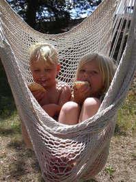 Kids in hammock