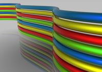 Colored glossy lines 3D 3