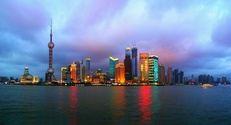 Shanghai City in the evening