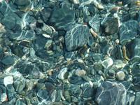 underwater blue stones