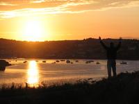 Praising God at sunset
