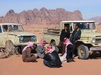 Resting at Wadi Rum