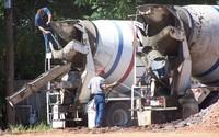 Washing up the trucks