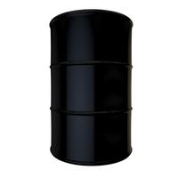 Black oil drum isolated
