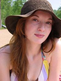 Jenny at the beach