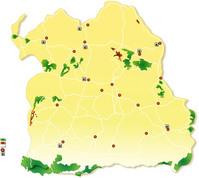 Map of Northeast Thai