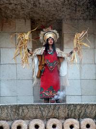 Mayan Woman in Tribal Costume