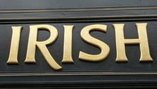 Sign saying IRISH