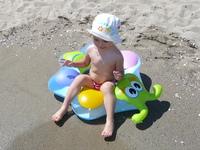 Joanna on the beach 1