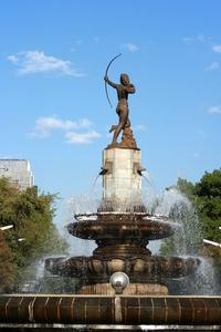 """Diana Cazadora"""" fountaine in Mexico City"""