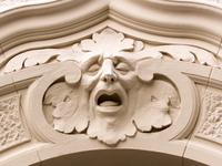 sad face architecture detail