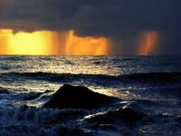 Rain on sea III